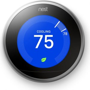nest learning thermostat | cooling 75º
