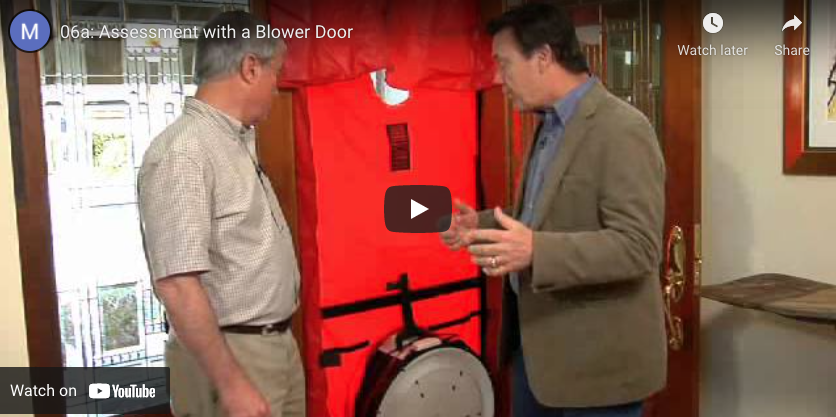 thumbnail: assessment with a blower door