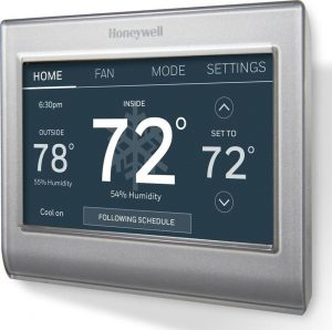 hoeneywell smart thermostat | 78º 72º 72º